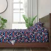 4th Of July Floral American Flag 100 Cotton Sateen Sheet Set By Roostery