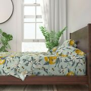 Farmhouse Vintage Retro Paint Number 100 Cotton Sateen Sheet Set By Roostery