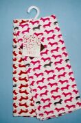 Set Of 2 Cynthia Rowley Red And Pink Dachshund Kitchen Tea Towel