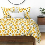 Food Bee Tile Farm Spoon Natural Honeycomb Sateen Duvet Cover By Roostery