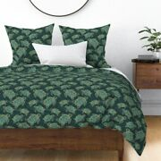Turtle Gold Illustrated Animals Water Ocean Sea Sateen Duvet Cover By Roostery