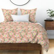 Floral Vines Garden Pretty White Rose Summer Sateen Duvet Cover By Roostery