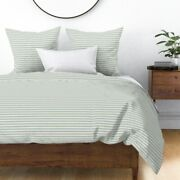 Blue Baby Sky Country Farmhouse Cottage Ticking Sateen Duvet Cover By Roostery