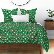 Sheltie Shetland Sheepdog Dog Dogs Christmas Xmas Sateen Duvet Cover By Roostery