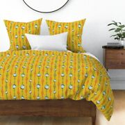 Fishing Summer Manly Vintage Retro Bobbers Lures Sateen Duvet Cover By Roostery