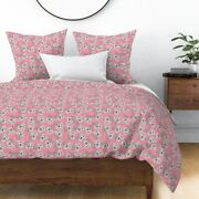 Rotary Dial Phone Pink Vintage Hello Telephone Sateen Duvet Cover By Roostery