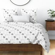 Dandelions Flowers Simple Floral Spores Seeds Sateen Duvet Cover By Roostery