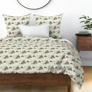 Watercolor Adventure Mountains Camp Watercolour Sateen Duvet Cover By Roostery