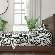 Abstract Road Modern Minimalist Home + 100 Cotton Sateen Sheet Set By Roostery