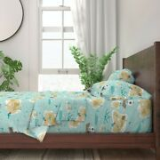 Pirate Map Ship Treasure Boys Nursery 100 Cotton Sateen Sheet Set By Roostery