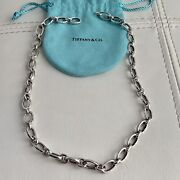 And Co. Sliver Clasping Every Clasp Opens 18andrdquo Necklace Pouch Box