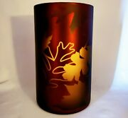 Yankee Candle Flicker Leaves Glass Candle Holder For Large Jar Candle