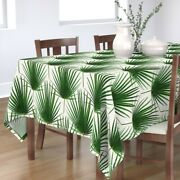 Tablecloth Leaves Palm Tropical Leaf Hexagon Nature Garden Cotton Sateen