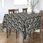 Tablecloth Palm Leaf Summer Plants Nature Tropical Leaves Cotton Sateen