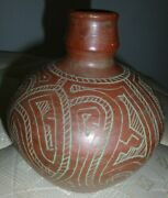 Pottery Santa Clara Pueblo Traditional Early 20th Century Red Clay Polychrhome