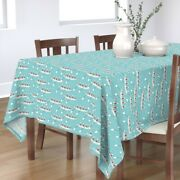 Tablecloth Row Crew Boat Rowing Team Sport Water Oars Cotton Sateen