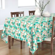 Tablecloth Jungle Leaves Tropical Floral Palm Leaf Banana Cotton Sateen
