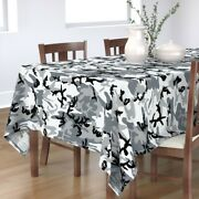 Tablecloth Urban With Camouflage Neutral Camo Hunting Paintball Cotton Sateen