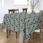 Tablecloth Poison Halloween Spooky Bottles Mad Scientist Witch Cotton Sateen