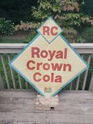 Vintage Rare Royal Crown Cola Embossed Metal Sign Rc Cola General Store 4and039x4and039