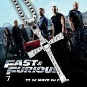 Necklace Pendant Cross Dom Toretto Fast And Furious Vin Diesel Cz Necklace Gifts