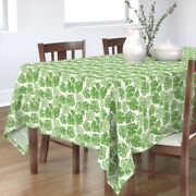 Tablecloth Green Monstera Leaves Summer Botanical Leaf Plant Palm Cotton Sateen