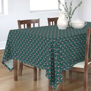 Tablecloth Reindeer Forest Holiday Top 10 Deer Ornament Antlers Cotton Sateen