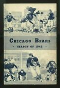 1942 Chicago Bears Football Media Guide Yearbook Rated 1 Greatest Nfl Team Ever