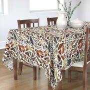 Tablecloth Moth Wings Bug Insect Collection Earth Tones Butterfly Cotton Sateen