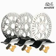 For Harley Street Glide Flhx 08-13 Polished 11.8 Front Rear Brake Rotor W/ Pads