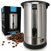 Zulay Premium Commercial Coffee Urn - Stainless Steel Large Coffee Dispenser For