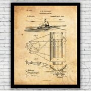 Rowing Boat Outrigger Oarlock Patent Wall Art Print - Size And Frame Options