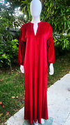Vintage Halston Caftan Red Metallic One Size Fits All 1970's