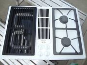 Jenn Air Gas Cooktop And Grill White Jgd8130adw Never Installed Please Read New
