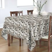 Tablecloth Vintage Black And White Bicycles Antique Sepia Old Cotton Sateen