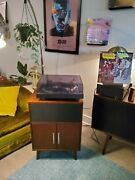 Mcs 6700 Direct Drive Turntable W/ Victrola Bluetooth Cabinet Speaker + Records