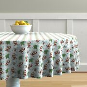 Round Tablecloth Yorkie Yorkshire Dog Pet Cookie Tree Catia Cho Cotton Sateen