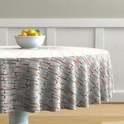 Round Tablecloth Chinese Words Quotes Asian Cookie Fortune Cotton Sateen