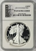 2013-w Proof American Silver Eagle 1 Ngc Pf69