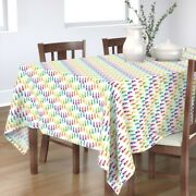 Tablecloth Gnomes Challenge Gnomes Ring Around Play Rainbow Pride Cotton Sateen
