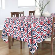 Tablecloth Football Red White And Blue Damask Red Blue Helen Cotton Sateen