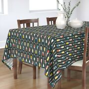 Tablecloth Rowing Oars Canoe Paddle Team Crew Vintage Ocean Cotton Sateen