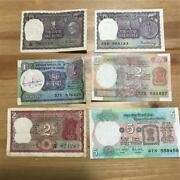 A Collection Of India Old Rupees 21 Different Notes From 1 Rupee To 1000 Rupees