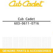 Cub Cadet 603-0611-0716 Caster Wheel Arm Assembly Yellow 99 48 54 60 295 291 290