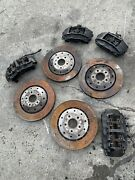 Audi R8 Calipers Brembos Brakes Set 8piston Fr 4piston Rr W Rotors And Pads