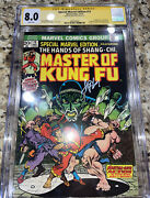 Special Marvel Edition 15 Cgc 8.0 Signed Jim Starlin 1st Shangchi Master Kung Fu