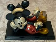 Vintage Disney Mickey Mouse Scotch Tape Dispenser Red Black Gold Office Supplies