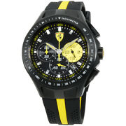Ferrari Race Day Black Dial Silicone Strap Menand039s Watch 830025