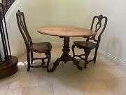Antique Entry Table And Pair Of Chairs Cherry Wood Table Antique Chairs Great De