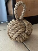 Fist Rope Knot Door Stop Nautical Tropical Show Stopper When Someone Sees It.